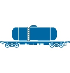 Tank Railway freight car - vector image