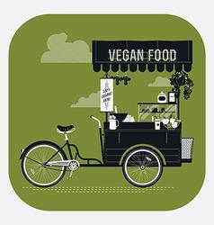 Vegan Food Cart vector image vector image