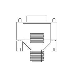 Vga cable vector