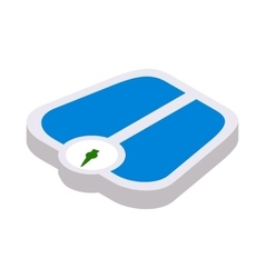 Weight scale icon isometric 3d style vector image vector image