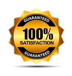 100 satisfaction guaranteed label vector image