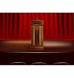 wooden podium tribune vector image