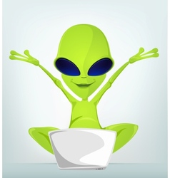 Cartoon character alien 032 cs5 vector