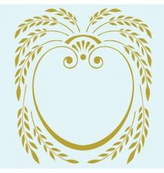 laurel frame vector image
