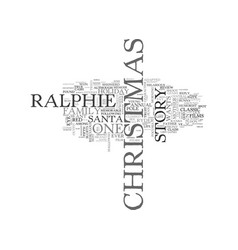 A christmas story dvd review text word cloud vector
