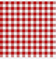 Red checkered texture restaurant seamless pattern vector