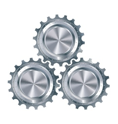 Cog gears mechanism vector