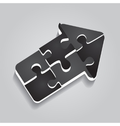 Arrow puzzle concept on gray background vector