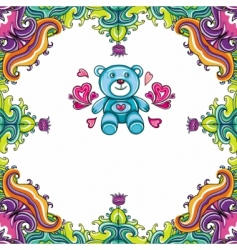 teddy bear framework vector image