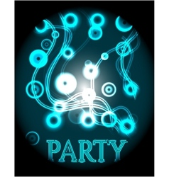 Blue poster - party vector