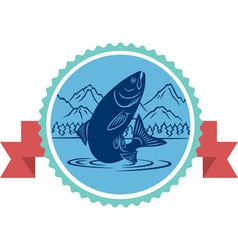 Salmon fishing vector