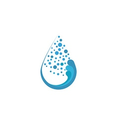 Fresh water drop and bubble mockup eco logo or vector