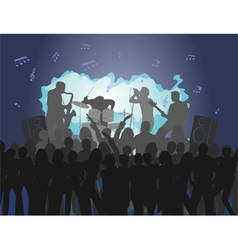 Rock concert musical background vector
