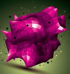 Spatial colorful digital object purple 3d vector