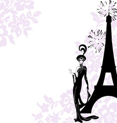 Frame fashion beauty paris vector
