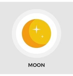 Moon flat icon vector image