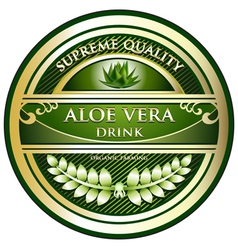Aloe vera drink label vector
