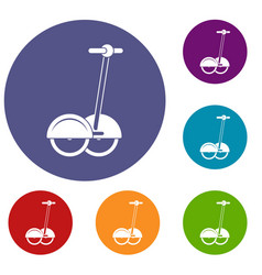Alternative transport vehicle icons set vector