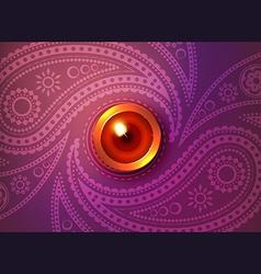 Beautiful glowing diwali background vector