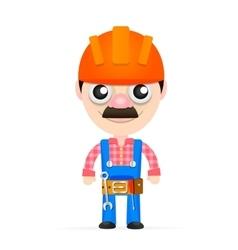 Builder in a helmet vector