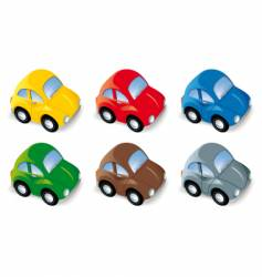 car set in six different colors vector image vector image