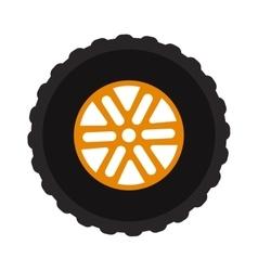 Car wheel cartoon flat on vector image