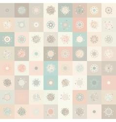 Christmas Snowflake Seamless Pattern vector image vector image