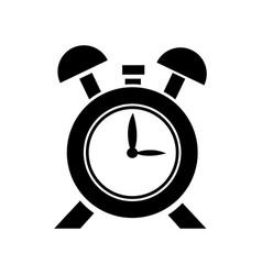 clock alarm hour school design icon vector image