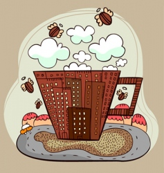 coffee city vector image vector image