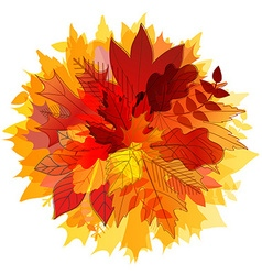 Color leaves hello autumn concept vector
