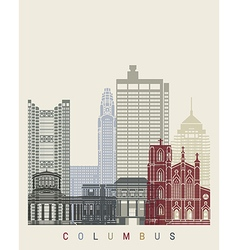 Columbus skyline poster vector