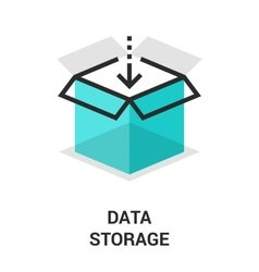 Data storage icon vector