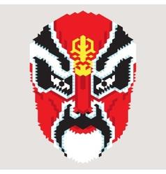 Geometric chinese mask vector