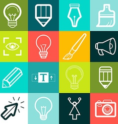 graphic design symbols and signs vector image