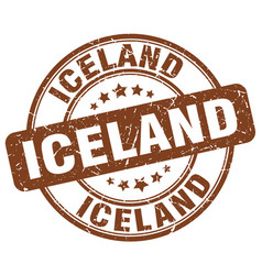 Iceland stamp vector