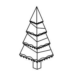 Isometric christmas pine tree design vector