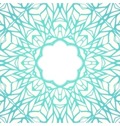 Mosaic ornamental lace frame abstract background vector image