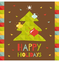 new christmas tree vector image vector image