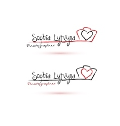 Photographer Logo with heart vector image vector image