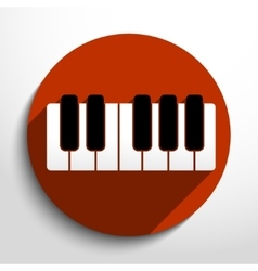piano keys web icon vector image