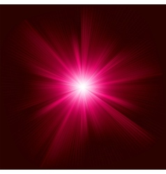 Red color design with a burst EPS 8 vector image vector image