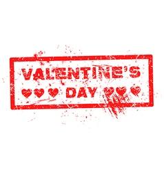 Red valentine grunge hearts stamp vector