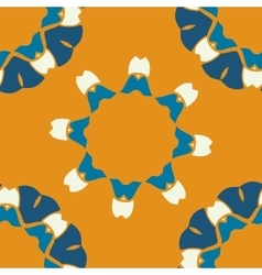Seamless indian pattern on orange background vector