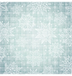 snowflakes and stars over silver background vector image vector image