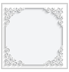 Square paper frame vector image vector image