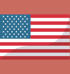 Usa flag united states of america symbol vector