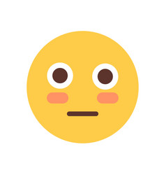 Yellow cartoon face shocked emoji people emotion vector