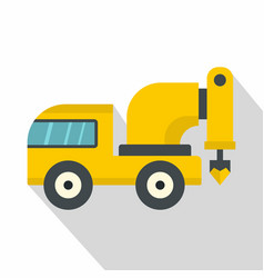 Yellow drilling machine icon flat style vector