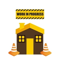 House icon work in progress design vector
