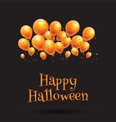 happy halloween balloon background 0609 vector image